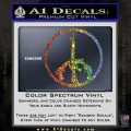 Peace Sign Gun Weapons Rifle Decal Sticker Glitter Sparkle 120x120