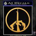 Peace Sign Gun Weapons Rifle Decal Sticker Gold Vinyl 120x120