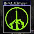 Peace Sign Gun Weapons Rifle Decal Sticker Lime Green Vinyl 120x120