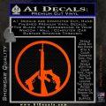 Peace Sign Gun Weapons Rifle Decal Sticker Orange Emblem 120x120