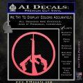 Peace Sign Gun Weapons Rifle Decal Sticker Pink Emblem 120x120