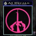 Peace Sign Gun Weapons Rifle Decal Sticker Pink Hot Vinyl 120x120