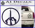 Peace Sign Gun Weapons Rifle Decal Sticker PurpleEmblem Logo 120x97