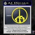 Peace Sign Gun Weapons Rifle Decal Sticker Yellow Laptop 120x120