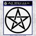 Pentacle Pentagram Decal Sticker Black Vinyl 120x120