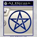 Pentacle Pentagram Decal Sticker Blue Vinyl 120x120