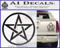 Pentacle Pentagram Decal Sticker Carbon FIber Black Vinyl 120x97