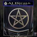 Pentacle Pentagram Decal Sticker Carbon FIber Chrome Vinyl 120x120