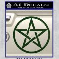 Pentacle Pentagram Decal Sticker Dark Green Vinyl 120x120
