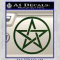 Pentacle Pentagram Decal Sticker Dark Green Vinyl 120x120