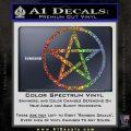 Pentacle Pentagram Decal Sticker Glitter Sparkle 120x120
