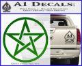 Pentacle Pentagram Decal Sticker Green Vinyl Logo 120x97