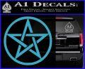 Pentacle Pentagram Decal Sticker Light Blue Vinyl 120x97