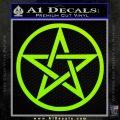 Pentacle Pentagram Decal Sticker Lime Green Vinyl 120x120