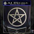 Pentacle Pentagram Decal Sticker Metallic Silver Emblem 120x120