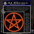 Pentacle Pentagram Decal Sticker Orange Emblem 120x120