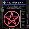 Pentacle Pentagram Decal Sticker Pink Emblem 120x120
