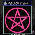 Pentacle Pentagram Decal Sticker Pink Hot Vinyl 120x120