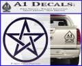 Pentacle Pentagram Decal Sticker PurpleEmblem Logo 120x97