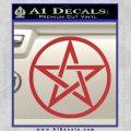 Pentacle Pentagram Decal Sticker Red 120x120