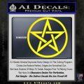 Pentacle Pentagram Decal Sticker Yellow Laptop 120x120