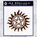 Pentagram Pentacle Flames Rays D1 Decal Sticker BROWN Vinyl 120x120