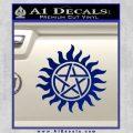 Pentagram Pentacle Flames Rays D1 Decal Sticker Blue Vinyl 120x120