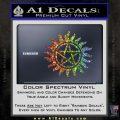 Pentagram Pentacle Flames Rays D1 Decal Sticker Glitter Sparkle 120x120