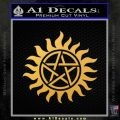 Pentagram Pentacle Flames Rays D1 Decal Sticker Gold Vinyl 120x120