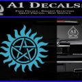 Pentagram Pentacle Flames Rays D1 Decal Sticker Light Blue Vinyl 120x120