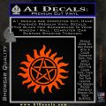 Pentagram Pentacle Flames Rays D1 Decal Sticker Orange Emblem 120x120