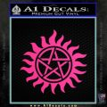 Pentagram Pentacle Flames Rays D1 Decal Sticker Pink Hot Vinyl 120x120