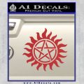 Pentagram Pentacle Flames Rays D1 Decal Sticker Red 120x120