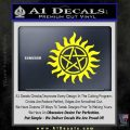 Pentagram Pentacle Flames Rays D1 Decal Sticker Yellow Laptop 120x120