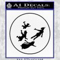 Peter Pan Kids Flying D1 Decal Sticker Black Vinyl 120x120