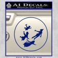 Peter Pan Kids Flying D1 Decal Sticker Blue Vinyl 120x120
