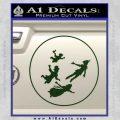 Peter Pan Kids Flying D1 Decal Sticker Dark Green Vinyl 120x120