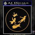 Peter Pan Kids Flying D1 Decal Sticker Gold Vinyl 120x120
