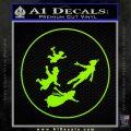 Peter Pan Kids Flying D1 Decal Sticker Lime Green Vinyl 120x120