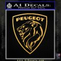 Peugeot 1960s Decal Sticker Gold Vinyl 120x120