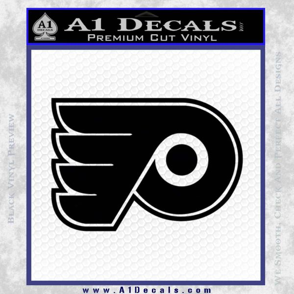 Philadelphia Flyers Decal Sticker A Decals - Black vinyl decal stickers