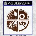 Philidelphia Pro Sports Decal Sticker BROWN Vinyl 120x120