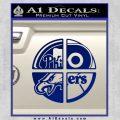 Philidelphia Pro Sports Decal Sticker Blue Vinyl 120x120