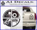 Philidelphia Pro Sports Decal Sticker Carbon FIber Black Vinyl 120x97