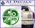 Philidelphia Pro Sports Decal Sticker Green Vinyl Logo 120x97