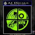 Philidelphia Pro Sports Decal Sticker Lime Green Vinyl 120x120