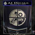 Philidelphia Pro Sports Decal Sticker Metallic Silver Emblem 120x120