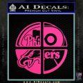 Philidelphia Pro Sports Decal Sticker Pink Hot Vinyl 120x120