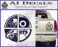 Philidelphia Pro Sports Decal Sticker PurpleEmblem Logo 120x97
