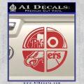 Philidelphia Pro Sports Decal Sticker Red 120x120